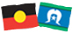 Aboriginal flag and Torres Strait Island flag