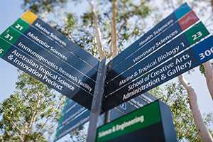 University signposts