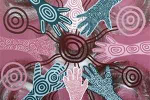 Stylised hands artwork