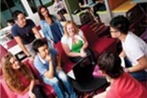 Students at university